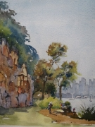 Greenwich Point Lane Cove Acquisitive . Prize Winner 2014 Aspects of Lane Cove Watercolour