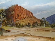 Ross River Alice Springs . Watercolour $400 framed Painting size 297x420 mm