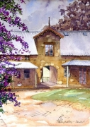 The Stables Winbourne Mulgoa - Watercolour Sold .