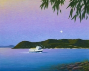 Palm Beach Ferry - Acrylic on canvas, 70cm x 60cm, $850