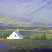 Scottish Highlands - Acrylic on canvas, 76cm x 76cm, SOLD