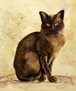 """Maisie"" Watercolour on paper 