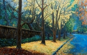 Burns Road Wahroonga, The Fall Oil on Canvas 76cm x 102cm