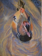 Painted Duck Acrylic 50cm x 61 cm