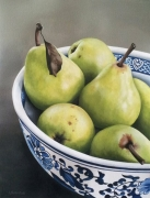 Green Pears in Chinese Bowl I Acrylic on Arches Paper Framed Size: 104cm x85cm SOLD
